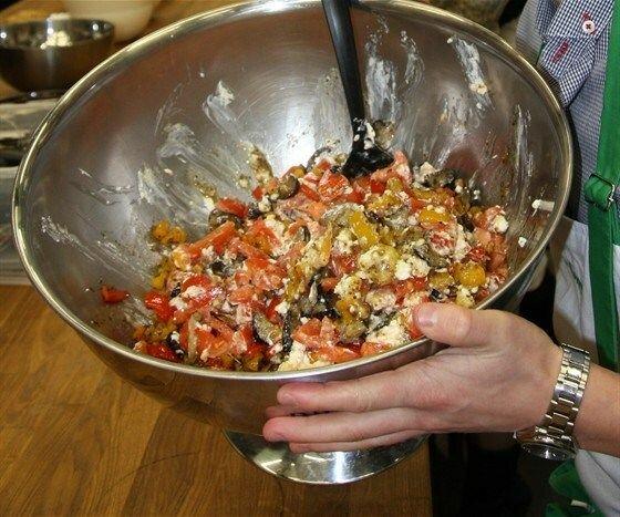 Пошаговое салат из баклажанами