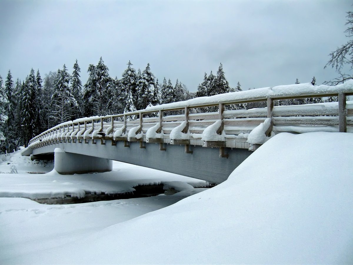 зимняя мостовая картинки часы