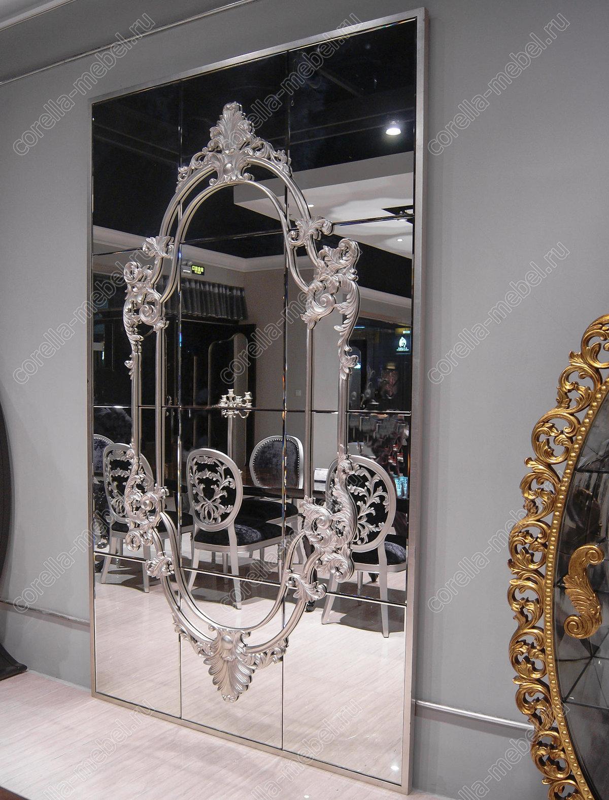 Большое напольное зеркало арт деко в просторную прихожую ....