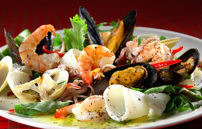Открытки с морепродуктами, открытка новым