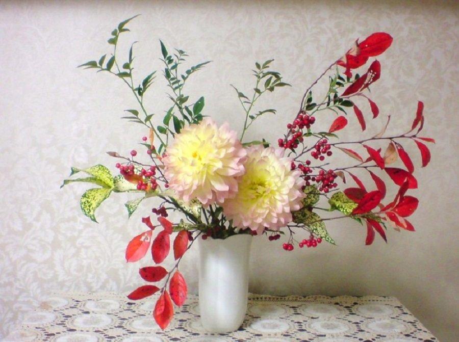цветы букеты японские картинки свой многолетный опят