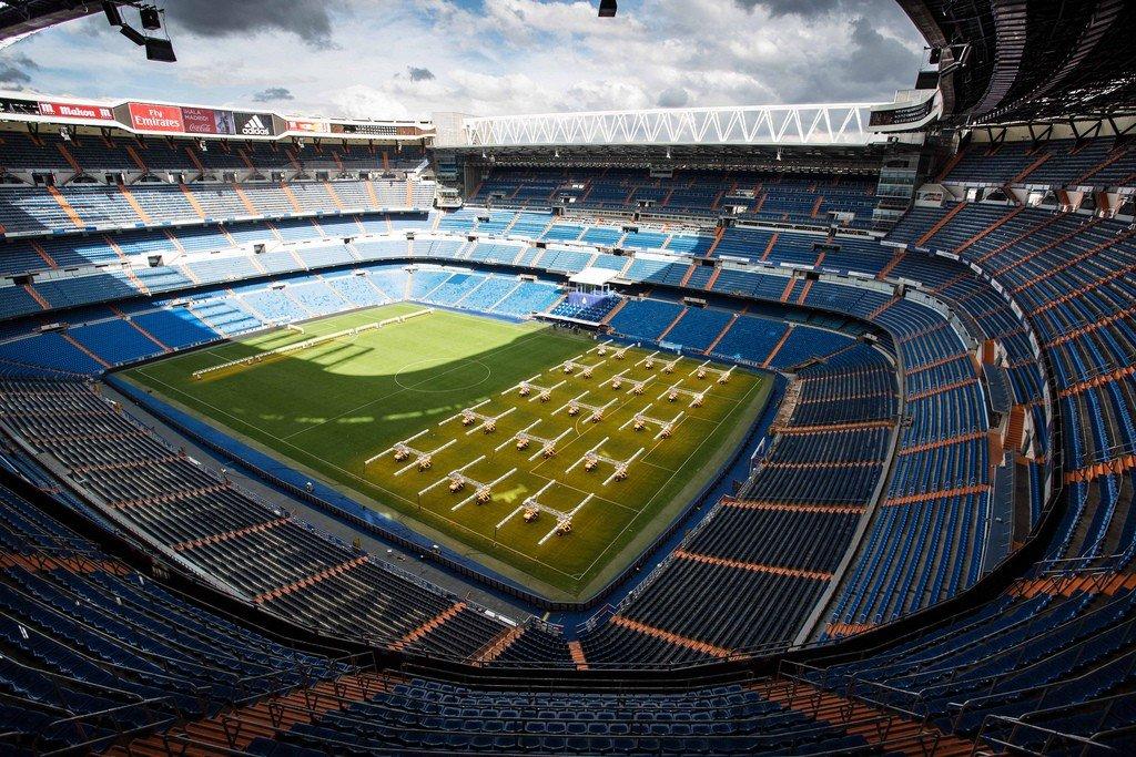 трещин бетонных сантьяго бернабеу фото стадиона дворец детище великого
