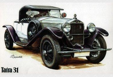ретро автомобиль рисунок