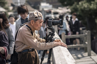 старик фотограф