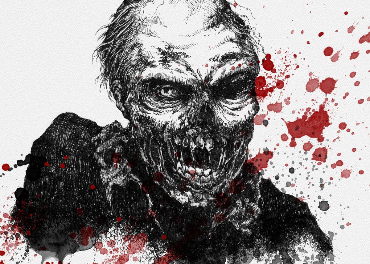покупайте злой зомби картинка рычал, его немного
