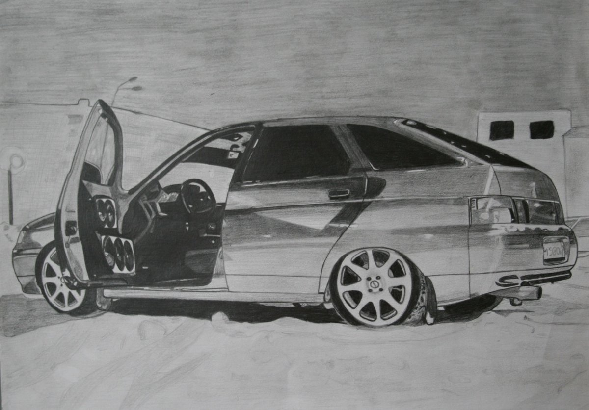 Отстань картинки, картинки русские машины бпан карандашом двенашка