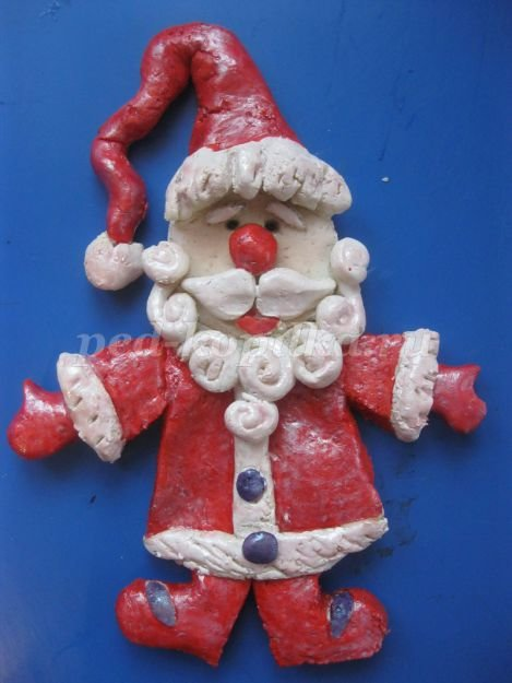 новогодняя поделка Дед мороз  из соленого теста