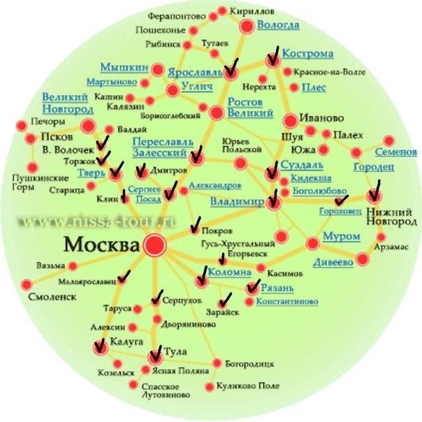 Автобусные туры по золотому кольцу из москвы