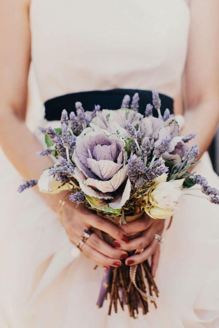 Букет лаванды свадебный, букет цветов