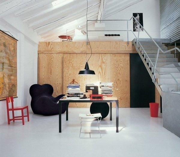 Домашний кабинет - На нижнем этаже (в светлых оттенках)