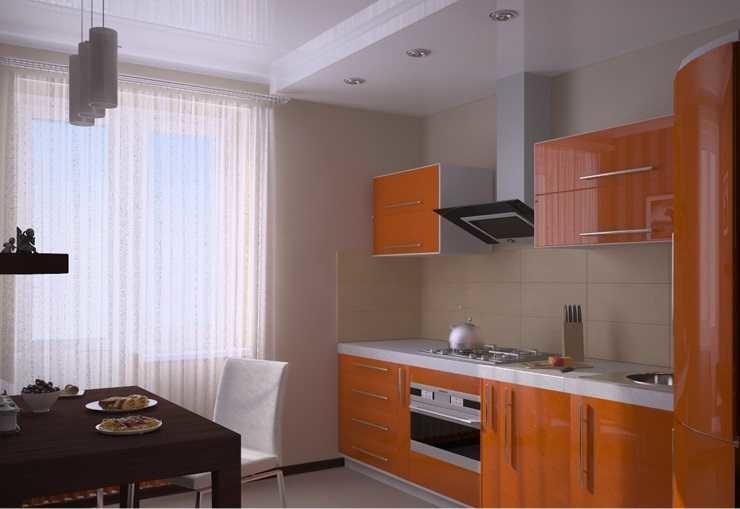 """Оранжевая угловая кухня с балконом"""" - карточка пользователя ."""