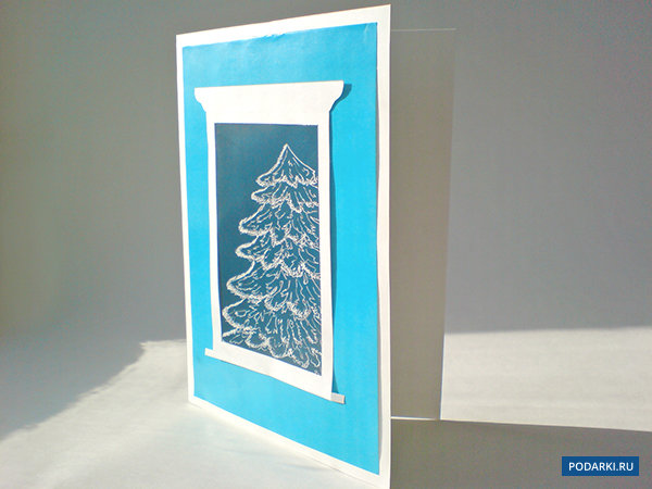 Прованса, объемная открытка с окошком