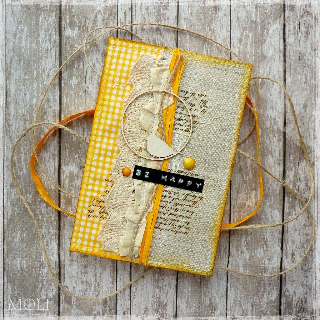Скрапбукинг желтая открытка, открытка склеить объемную
