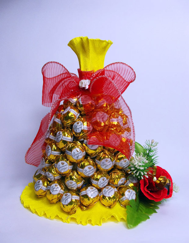 Детский букеты из конфет своими руками