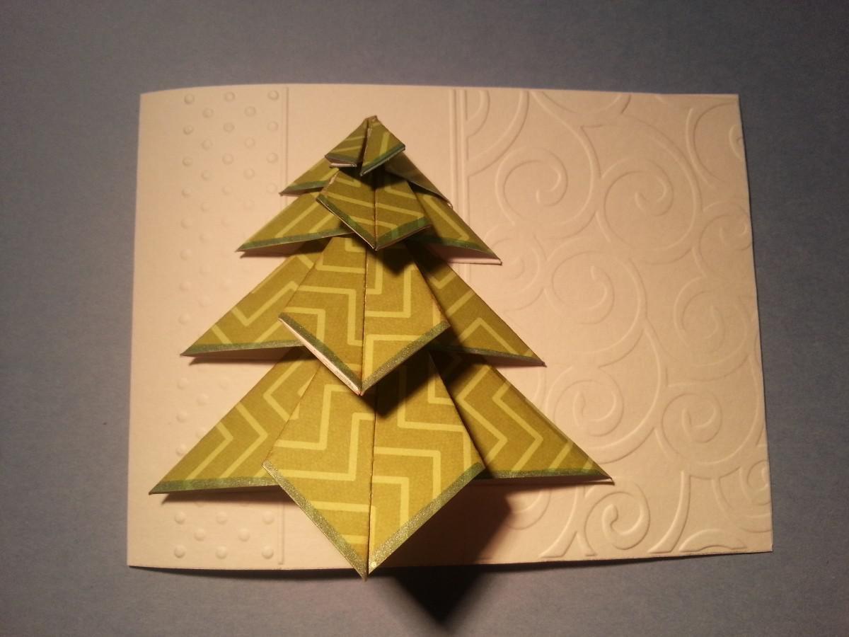 Прикольные картинки, оригами открытки новогодние