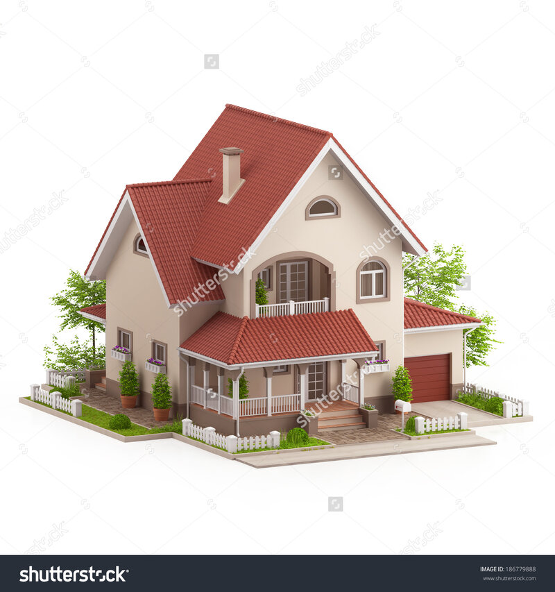 stock-photo-graphic-illustration-of-a-modern-house-on-white-background-186779888.jpg (1500×1600)