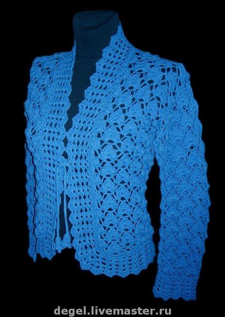 Вязание из хлопка женские летние кофты крючком