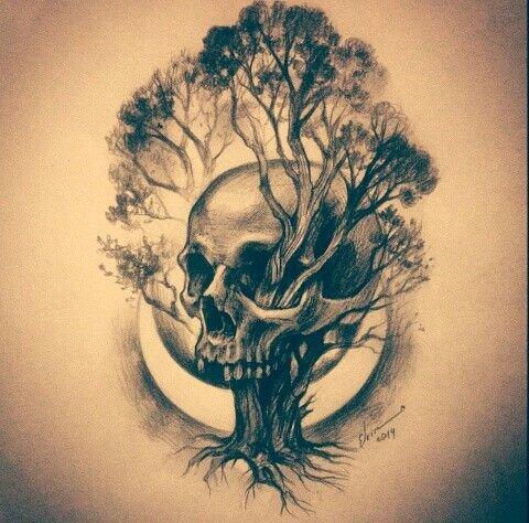 Картинки черепа с деревом когда приветствовалась