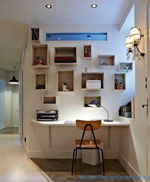 Дизайн маленького офиса в доме.