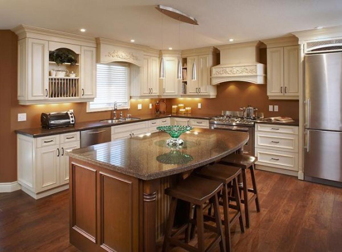 расположение кухонного гарнитура на кухне фото очень люблю