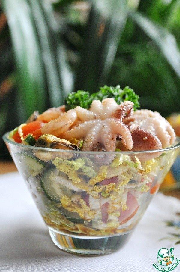 Маринованный морской коктейль рецепт с фото