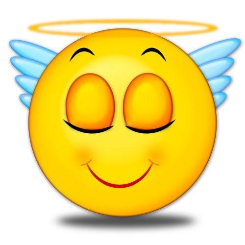 Смайлики ангелочки картинки
