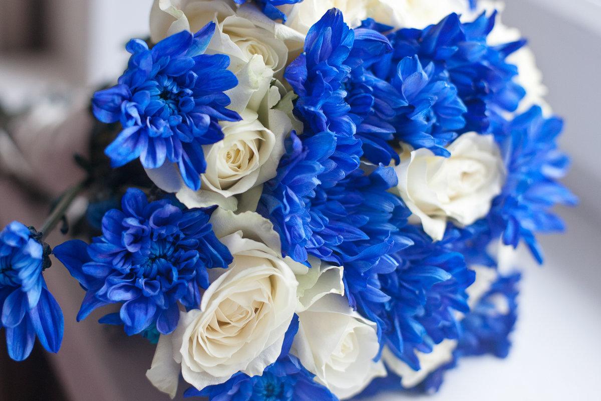 Букет, букет невесты сине белый голубой
