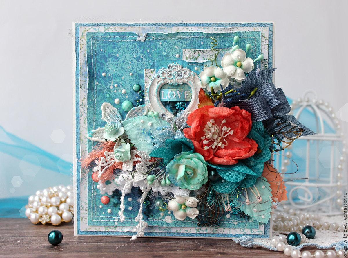Открытки в бирюзовом цвете