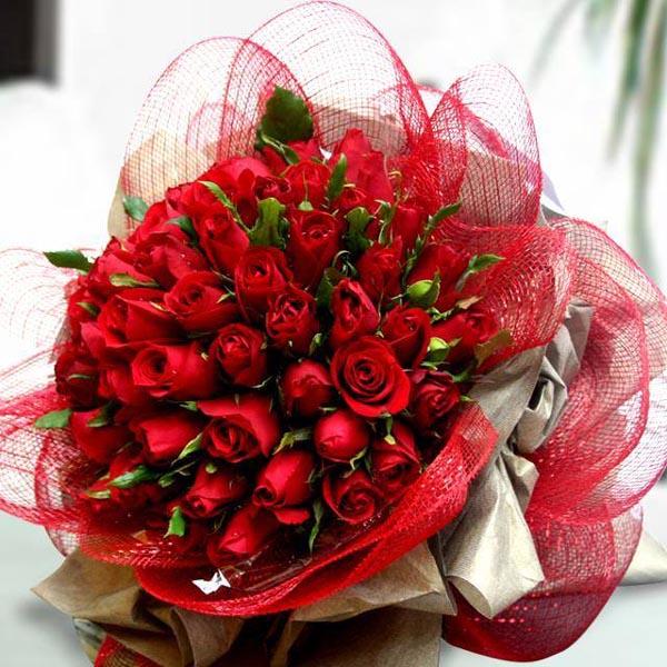 Картинка красивые красные розы в букете » букеты цветов » цветы.