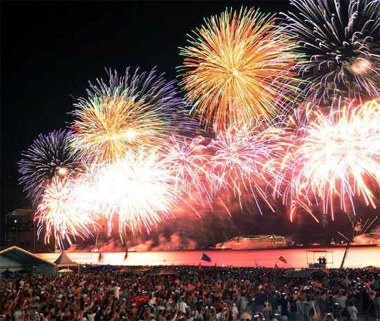 Красивый новый год в Рио де Жанейро