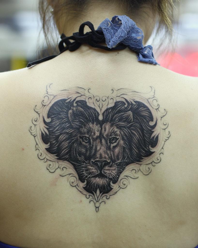 lion side tattoos for women - HD818×1024