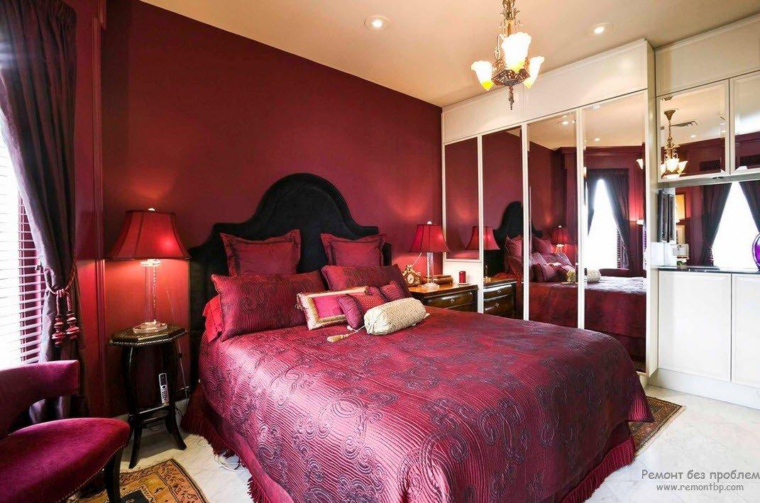 спальня в бордовых тонах фото хасавюрте