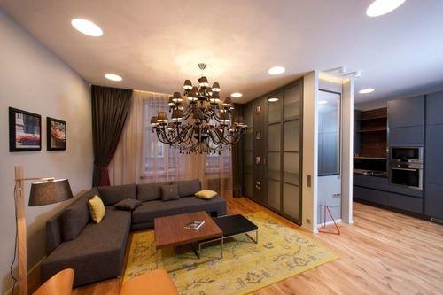 дизайн в однокомнатной квартире фото