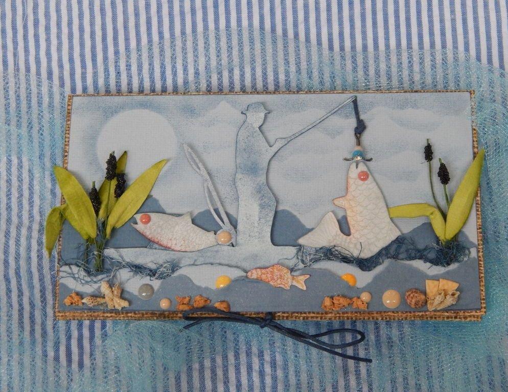 Поздравлениями для, открытка с рыбалкой на день рождения своими руками