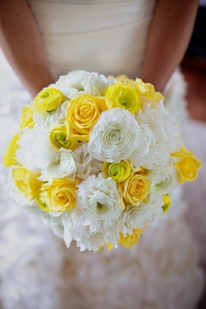 Желтые свадебные букеты, опт цветы заказ
