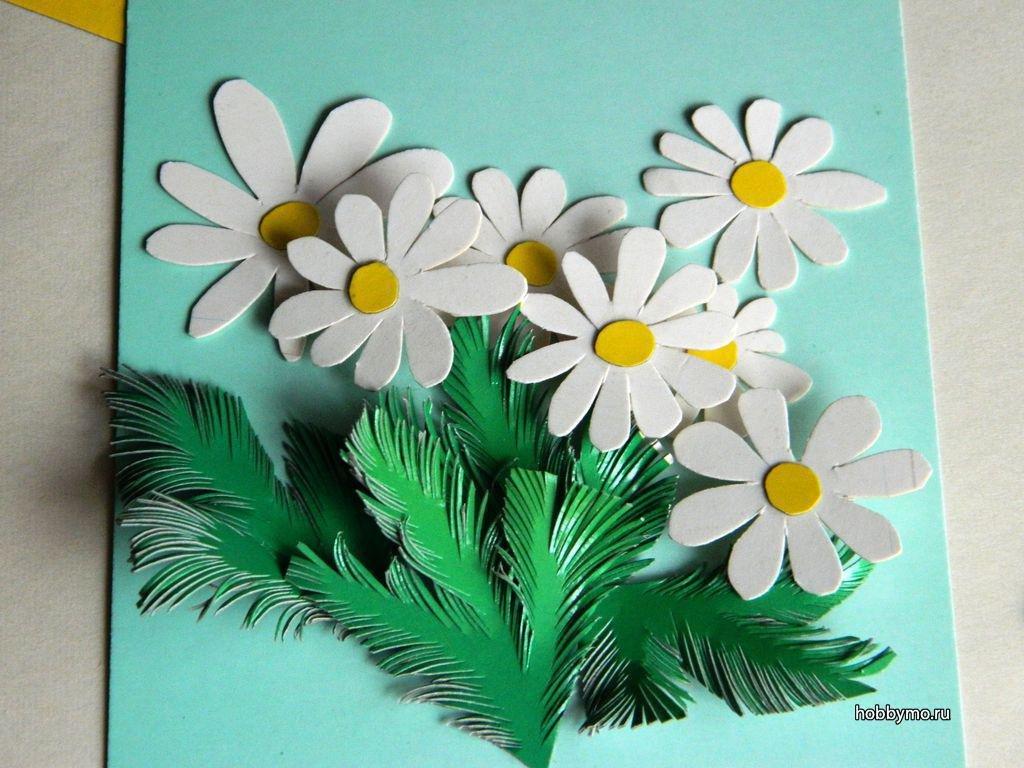 Сделать поделку своими руками открытки и цветы