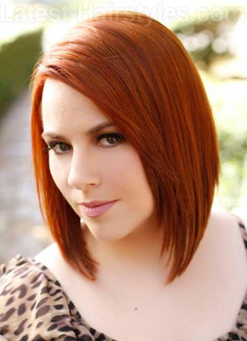 Классический образ на короткие рыжие волосы