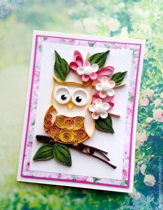 Надписей, открытка совы своими руками