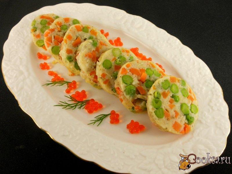Овощной рулет с рыбой рецепт с фото