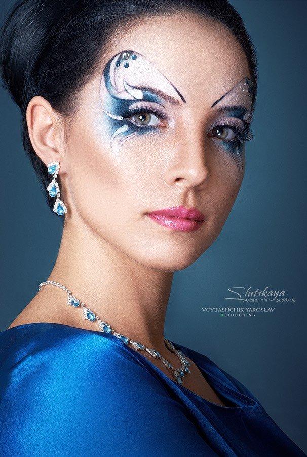 Художественное фото с макияжем