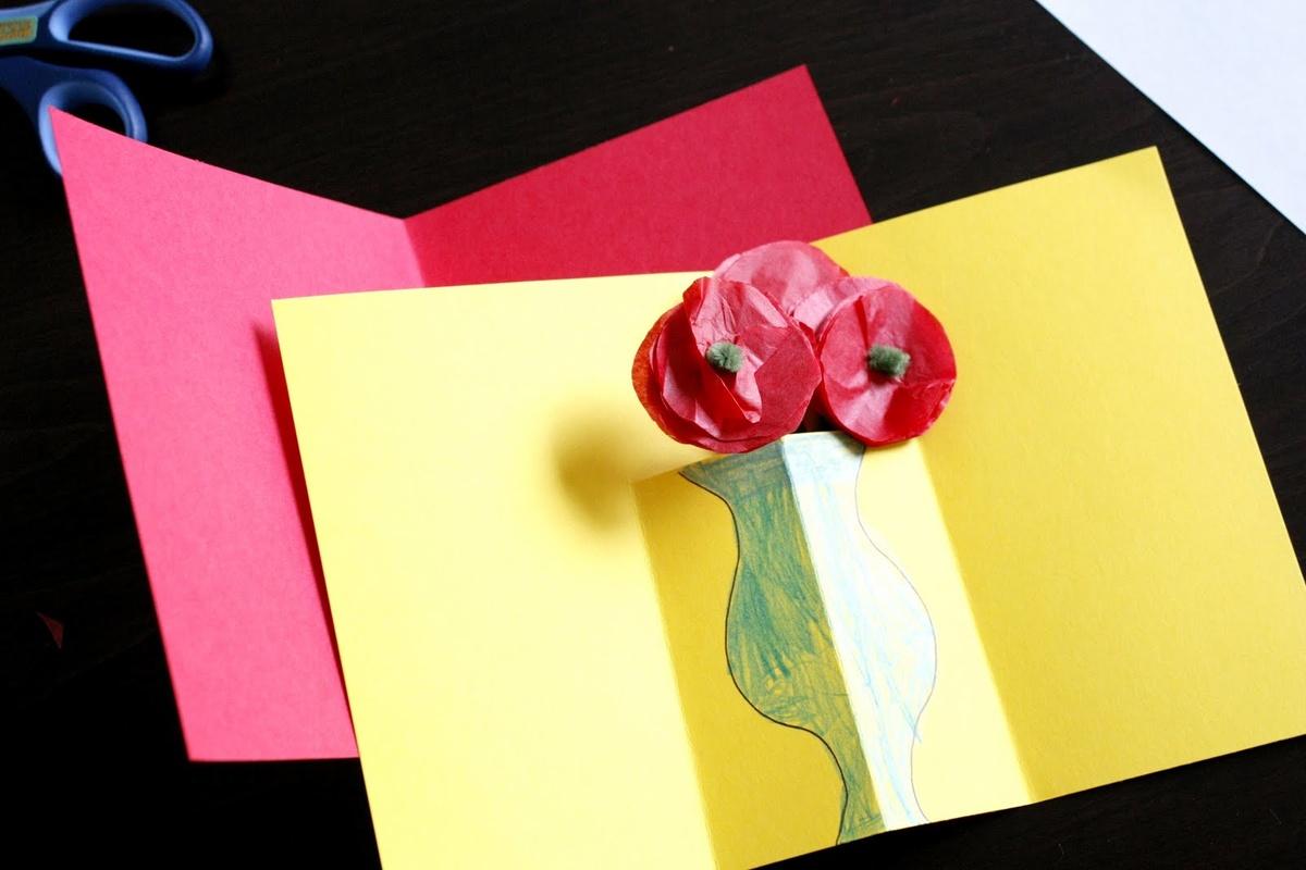 Сделать маме открытку на 8 марта