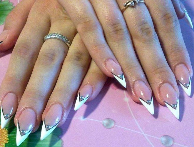 Фото заостренные нарощенные ногти