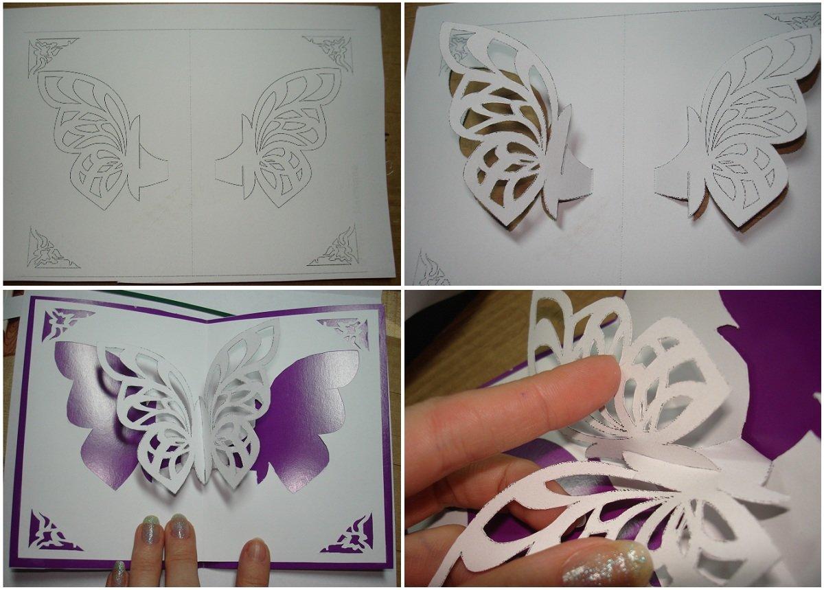 Музыкальные прикольные, открытка бабочка вырезать