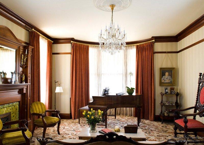 Викторианский стиль в дизайне интерьера | Современные идеи ... Классика в викторианском стиле