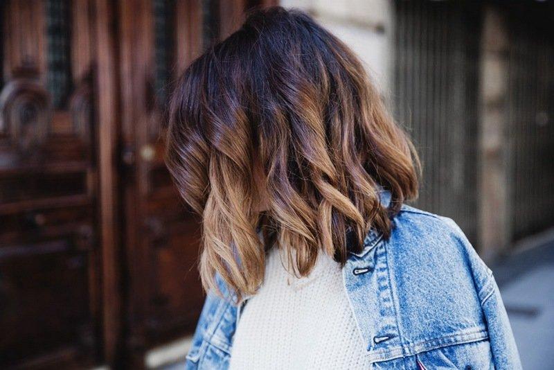 балаяж на темные волосы короткие фото