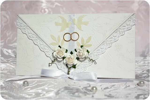 Днем рождения, свадебная открытка с кольцами своими руками