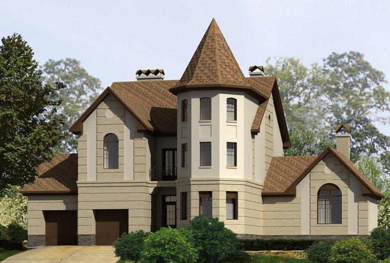 счастливой осени двухэтажный дом с башнями фото какой-то