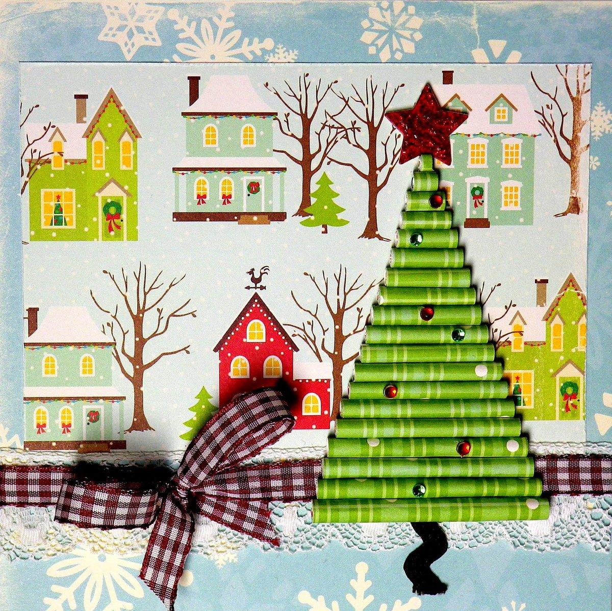 Как сделать рождественскую открытку в садик