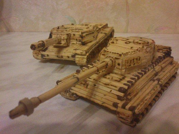 Как сделать спичечный танк фото 410