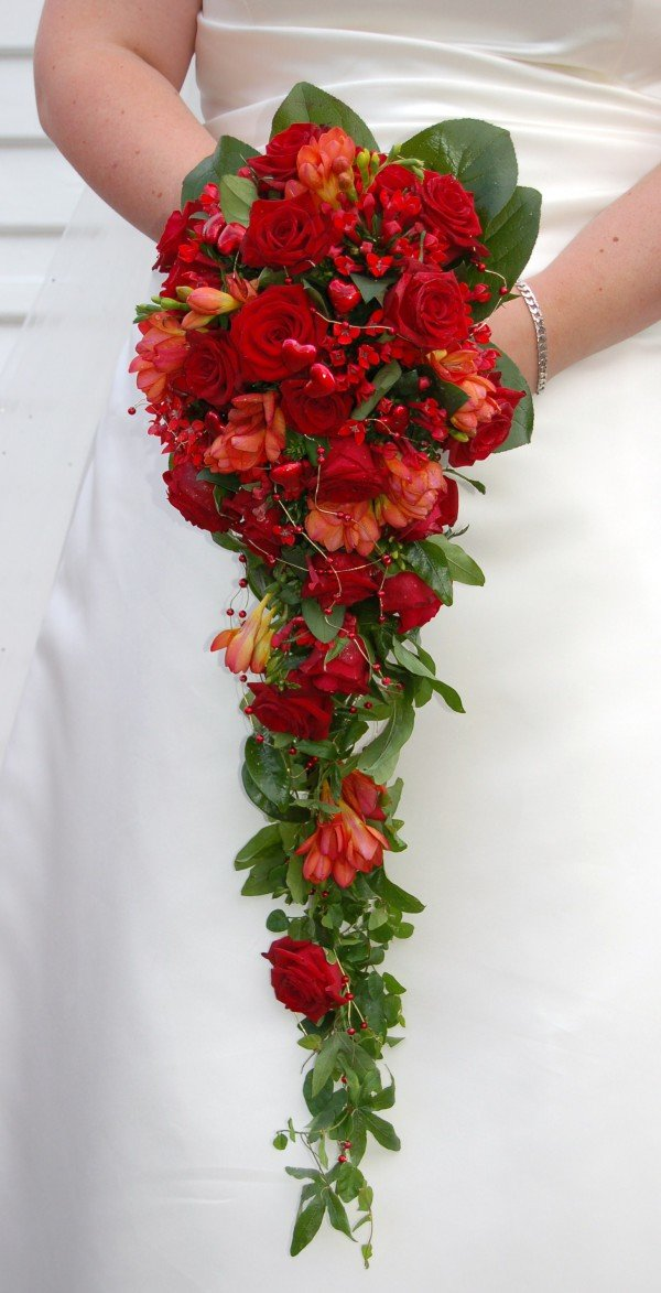 """Свадебный букет """"Калина красная"""""""